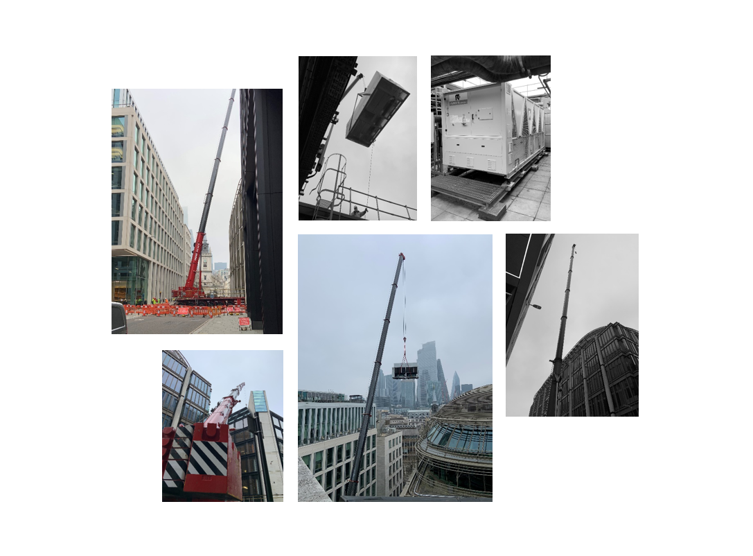 Project In Progress: Central London Chiller Replacement Crane Lift